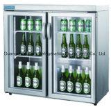 Dispositivo di raffreddamento posteriore della birra della barra, vetro Chiller-Bg208h della bevanda dei 2 portelli