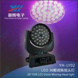 Diodo emissor de luz 36PCS 8W 4 em 1 luz principal movente do estágio do zoom