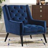주문을 받아서 만들어진 거실 가구 가죽 술을 다는 소파 의자 안락 의자 (HD524)