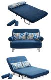 Ткань Sofabed Seater 3 влюбленности сложенная с рамкой металла