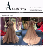 Ein Zeilen-/Abend-Kleid der Prinzessin-Long Sleeve für Hochzeit