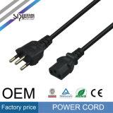 Câble de puissance des ordinateurs de la vente en gros 3-Pin de cordon d'alimentation AC de Sipu Brésil