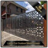 Metal perforado cortado laser que desliza la puerta de jardín