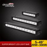 Barra clara do diodo emissor de luz do alumínio energy-saving 5inch 20W 4X4 para o jipe