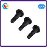 黒い亜鉛鋼鉄M5ボタンまたは円形か平らなヘッド標準外習慣細長かったねじ