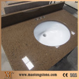 Parti superiori artificiali multicolori di vanità della stanza da bagno del quarzo con i dispersori di ceramica ovali