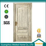 Porta de painel pintada branca do carvalho 2 da madeira contínua da falha do corte
