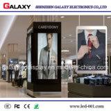 Transparentes Maschensieb-Bildschirmanzeige-Innenzeichen der Glas LED-Bildschirmanzeige-farbenreiches LED