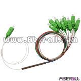 Mini tipo de acero conector del divisor de fibra óptica del PLC de 1X8 Sc/APC