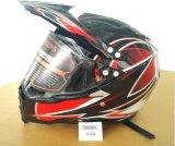 Capacete da Estrada-Cruz do motocross com a viseira do protetor de face cheia, Casco Moto, capacete de segurança