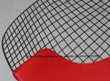 Реплика обедая стул диаманта провода валика PU места Kd красный