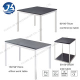 A HK moderna simples denomina a mesa de madeira do trabalho do aço inoxidável