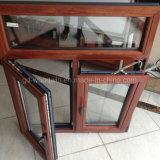 Finestra di legno di alluminio di lusso della stoffa per tendine/finestra dell'oscillazione/finestra di girata e di inclinazione