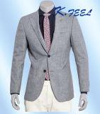 Chaqueta gris clara de los hombres de la mezcla de 2016 de la manera lanas y del lino