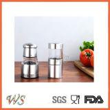 Ws-Pgs019 Pequeño tamaño manual acero inoxidable de sal y pimienta molinero conjunto