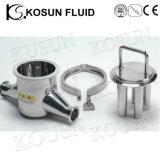 ステンレス鋼の衛生学の液体の粉のパイプライン磁気フィルター分離器