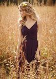 Hüllen-lange dünne Brücken, die Brautjunfer-Kleid (Riemen, Wedding sind nicht für Verkauf)