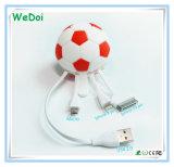 Новый футбол сформировал 3 в 1 кабеле USB с низкой стоимостью (WY-CA31)