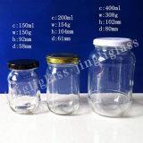 Algum frasco do vidro do alimento do molho do mel do tamanho