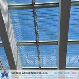 Vetro Tempered modellato vetro basso libero del comitato solare del ferro