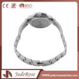 防水Analog-Digitalステンレス鋼の女性の水晶腕時計