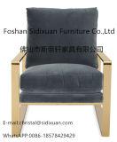 حديثة أنيق بناء نوع ذهب [ستينلسّ ستيل فرم] يعيش غرفة يتعشّى كرسي تثبيت ([س100])