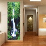 Maschera moderna di arte della parete della decorazione della stanza della pittura della cascata della pittura di parete di vendita calda delle 3 parti verniciata sulla decorazione Mc-225 della casa della tela di canapa