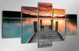 HDは湖の日没の空の絵画キャンバスの版画室の装飾プリントポスター映像のキャンバスMc087を印刷した