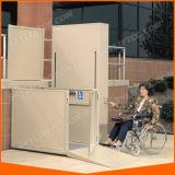 Elevación de la plataforma del elevador del sillón de ruedas
