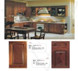 Plywood Cabinet Box를 가진 빨간 Oak Solid Wood Kitchen Cabinets Doors