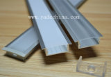 Profil en aluminium à ailettes enfoncé avec le jeu transparent ou givré de monture de couverture et