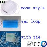O cone amarrado laço feito pronto cirúrgico da orelha do fornecedor da máscara protetora datilografa Kxt-FM01