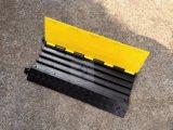 Thicked 덮개 4 채널 고무 케이블 프로텍터 브리지, 고무 전기 철사 프로텍터