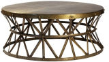 Hzct045 столичный круглый журнальный стол, пятно Espresso