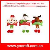 Do Natal vermelho do coração da decoração do Natal (ZY14Y289-1-2-3-4) tela de algodão poli