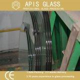 glas van de Ronde Lijst van 10mm het Duidelijke/het Aangemaakte Glas van het Tafelblad/Glas voor de Bovenkant van de Lijst