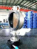 Válvula de borboleta ISO5752 com engrenagem de sem-fim/atuador elétrico
