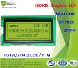 module graphique d'affichage à cristaux liquides de 160X32 MCU, St7920, 20pin, pour la position, sonnette, médicale, véhicules