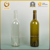 Screw Cap Clear e Green Bordeaux Glass Garrafa (002)