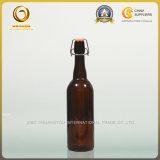 Flip Top Pescoço longo 750ml Garrafa de vidro de cerveja Amber (016)