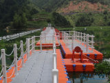 Bloques el pontón del puente de flotación