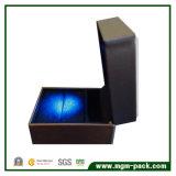 Nova caixa de jóias em couro de acrílico de design LED