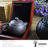Caja de madera de Hongdao, insignia del oro Caja de joyería de madera con forro del terciopelo