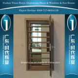 Het Openslaand raam van het aluminium met Beschermende Wacht voor de Decoratie van het Huis