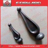 造られた鋼鉄は鋳鉄のやりのAnti-Rust鋼鉄を刺す