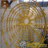 직류 전기를 통한 PVC 입히는 스테인리스 날카로운 철 면도칼 콘서티나 철사