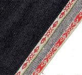 12.8ozジャカード金の端の乾燥した耳のデニムのジーンファブリック1210年