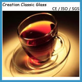 Glastee-Cup, Glaskaffeetasse, Glasmilch-Cup, Glascup