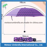 豪華なItems Color Printing Fold日曜日およびRain Promotion Gift Women Parasol Umbrella