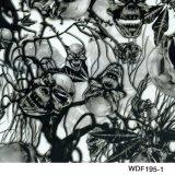 Черепа ширины Kingtop 1m и пленка Wdf344-1 переноса воды пленки печатание конструкции пламени гидро